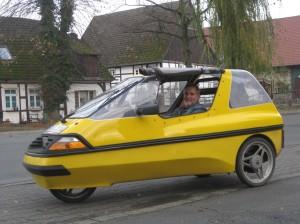 Franz Möllers im Elektroauto